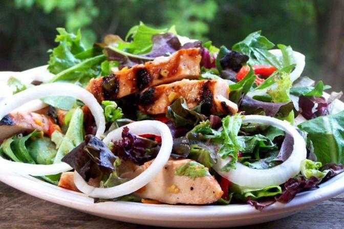 Ginger-Marmalade Grilled Chicken Salad