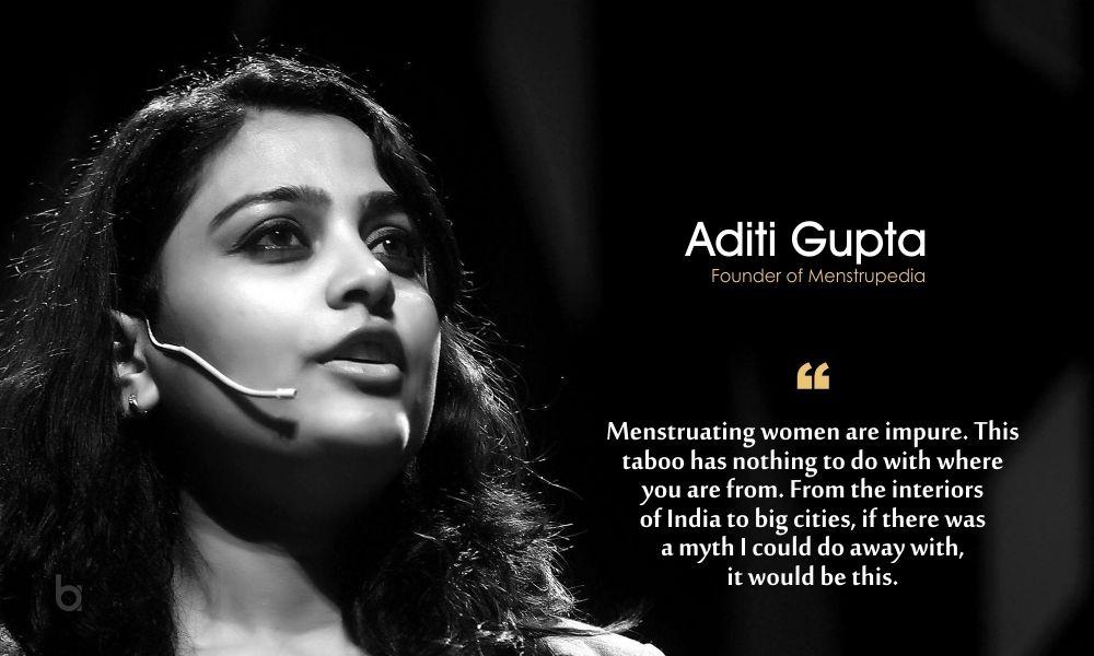 Aditi Gupta (Founder of Menstrupedia) | Female entrepreneur, Women, Successful women