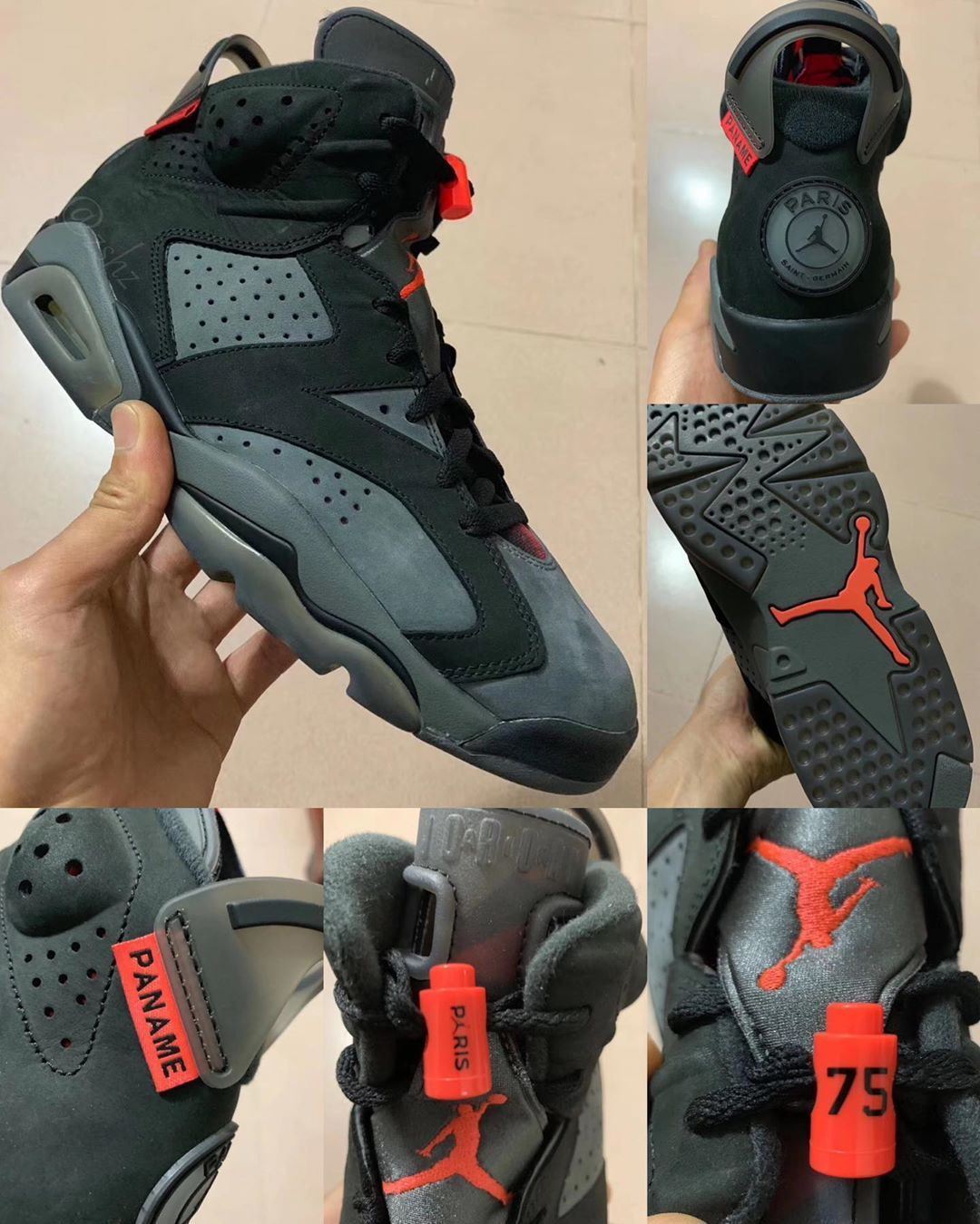 new concept ba14b 4b8eb 2019 Air Jordan Retro 6 #PSG Iron Grey/Infrared 23-Black ...