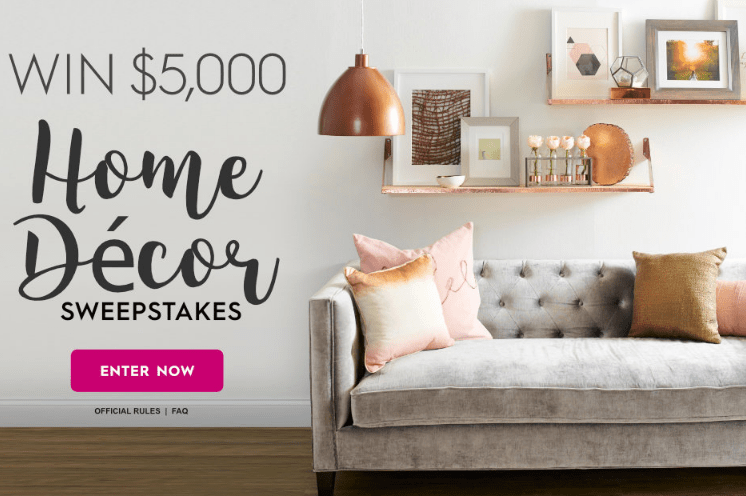 Bhg 5 000 Home Decor Sweepstakes Sweepstakes Cash From Home