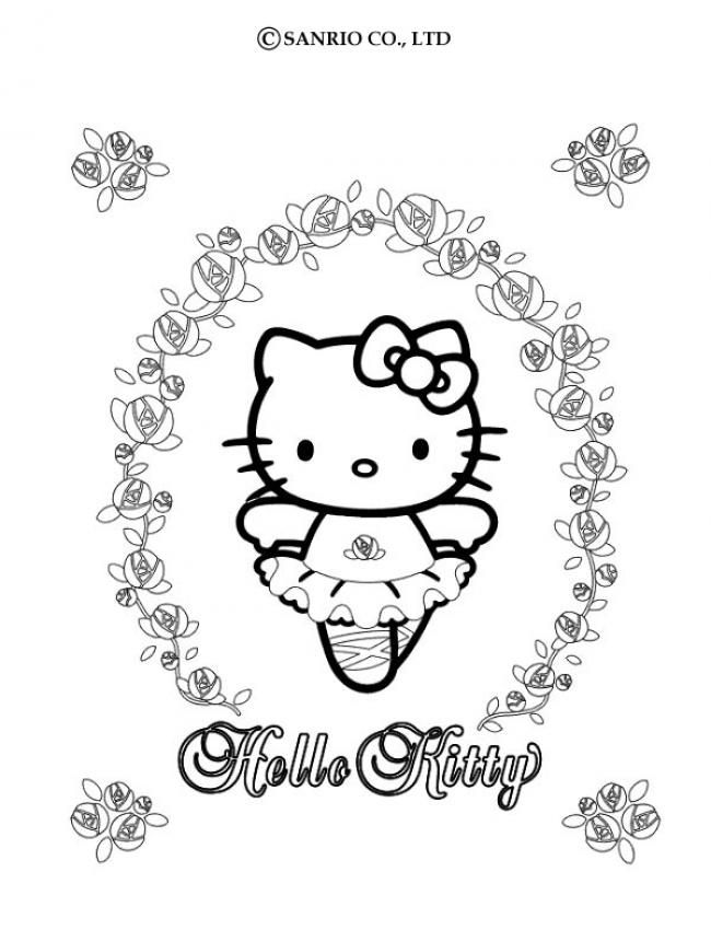 Color Online Coloriage Hello Kitty