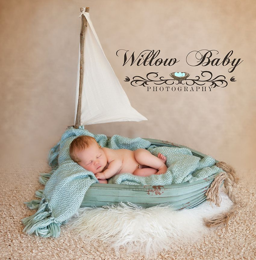 Newborn sailing photo newborn baby in boat www for Kinderzimmer neugeborene