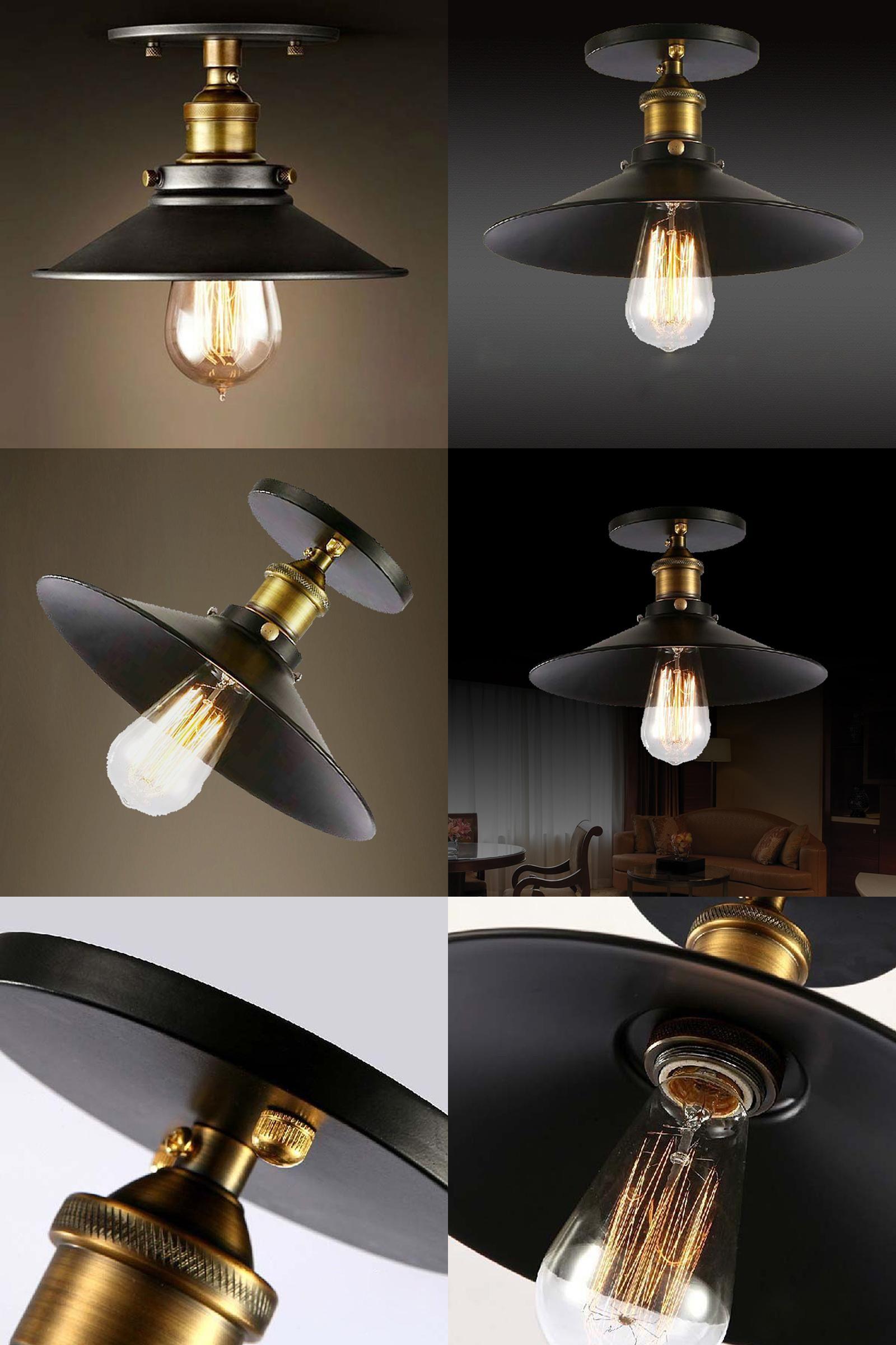 9f1e060e4e1  Visit to Buy  Loft Vintage Ceiling Lamp Round Retro Ceiling Light  Industrial Design Edison
