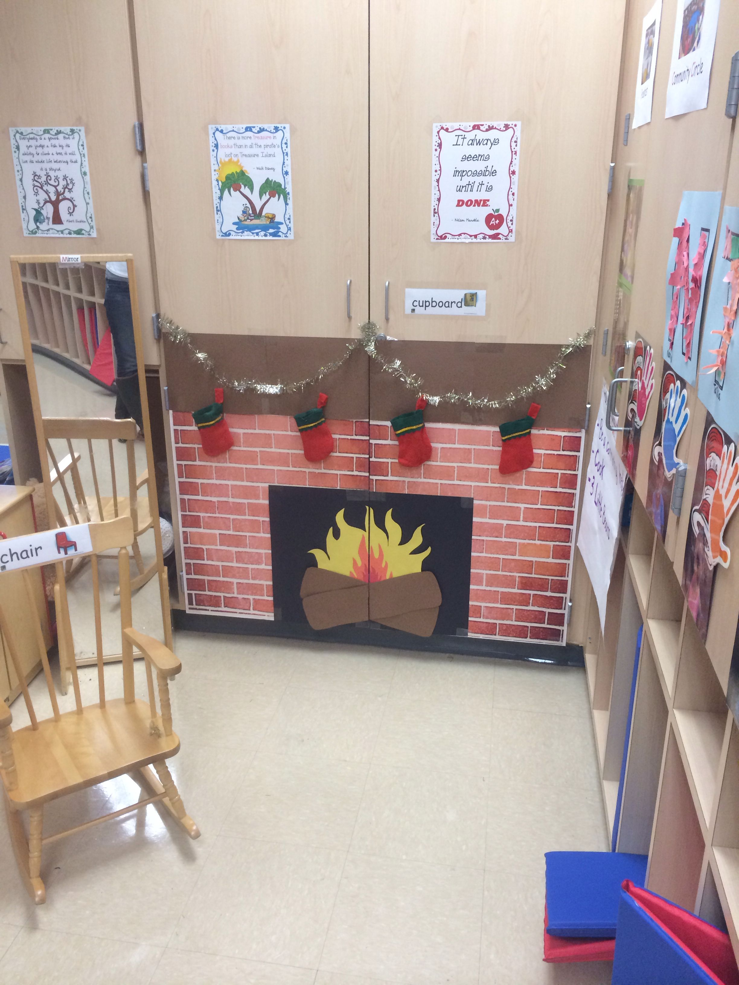 Fire place I created for my classroom   Fireplace ...