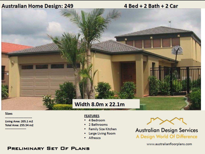 249 m2 | 4 Bed + Home Cinema | Narrow lot 2 Storey design | Narrow lot two storey plan | Narrow lot | Concept House Plans