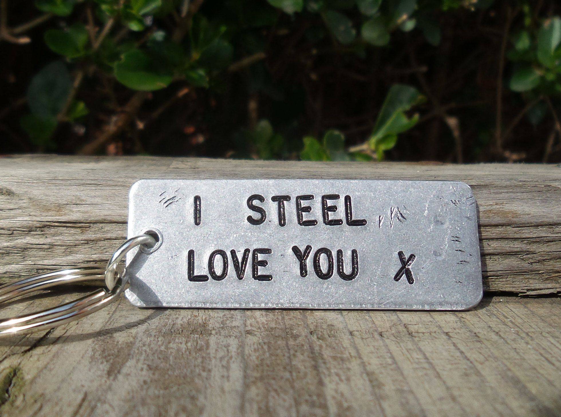 I Steel Love You Personalised 11 Years 11th Wedding Etsy Mens Anniversary Gifts Anniversary Keepsake Steel Anniversary Gifts