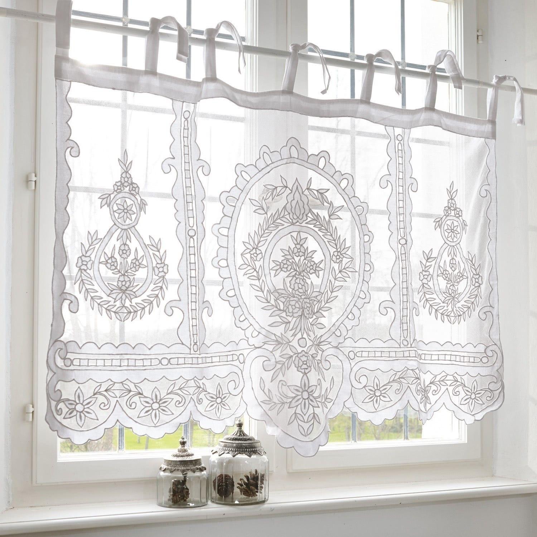 Scheibengardine Elenoire Loberon Scheibengardine Bad Fenster Vorhänge Gardinen