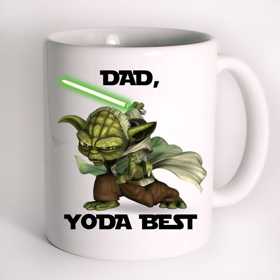 dad yoda best cute funny star wars mug design mug design. Black Bedroom Furniture Sets. Home Design Ideas