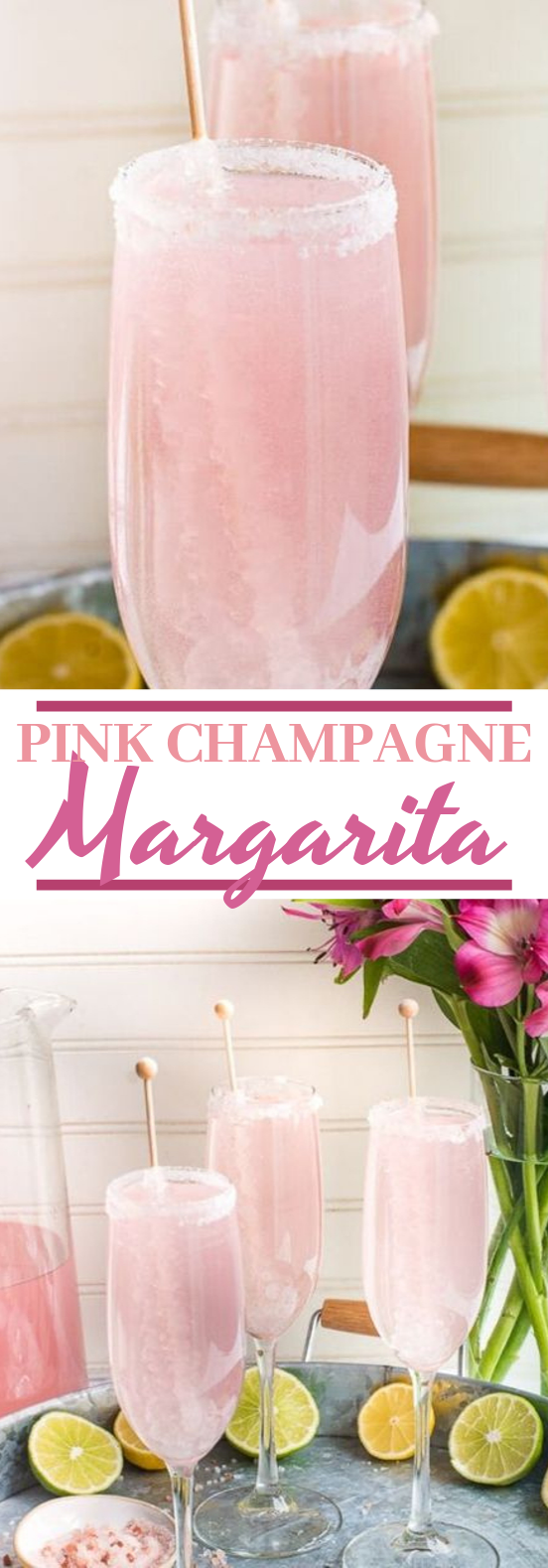 Pink Champagne Margarita #drinks #cocktails