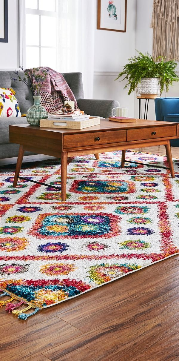 The size of your area rug helps determine how it ...