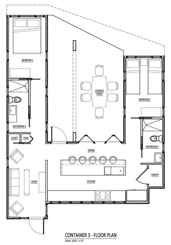 shipping container base plan container houses Pinterest Primer - best of blueprint container house