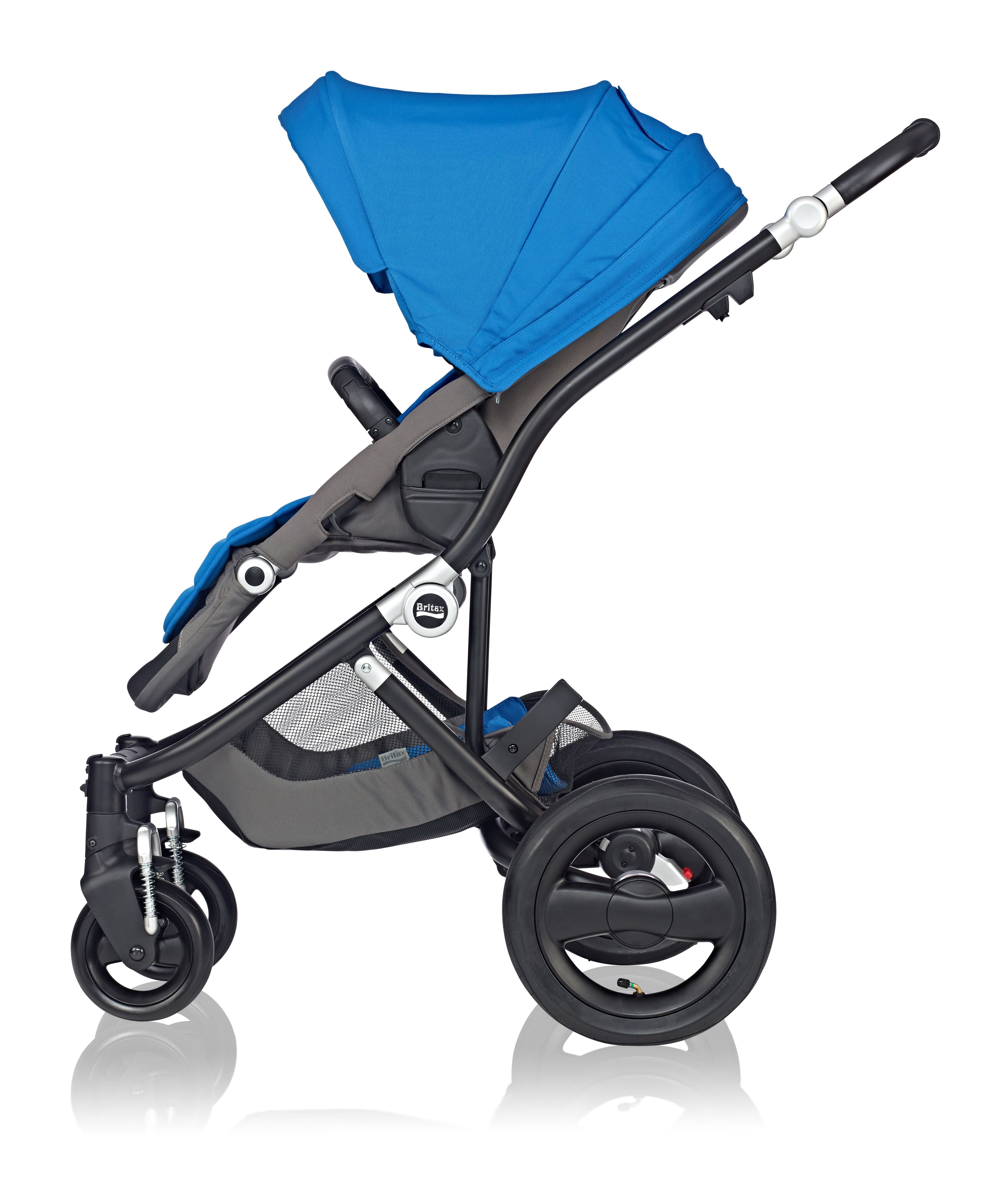 Affinity Stroller by Britax in Sky Blue baby style bold