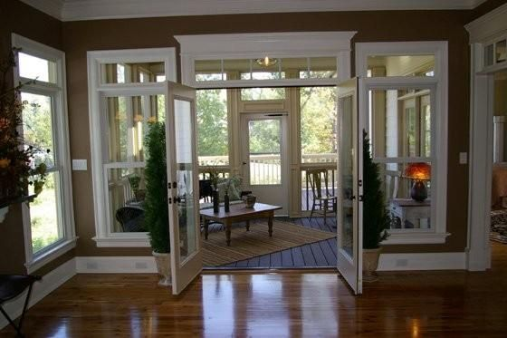 Superieur French Doors. Kitchen To Sunroom....I Like The Way The Trim Ont Eh Door Is  Higher Than On The Windows
