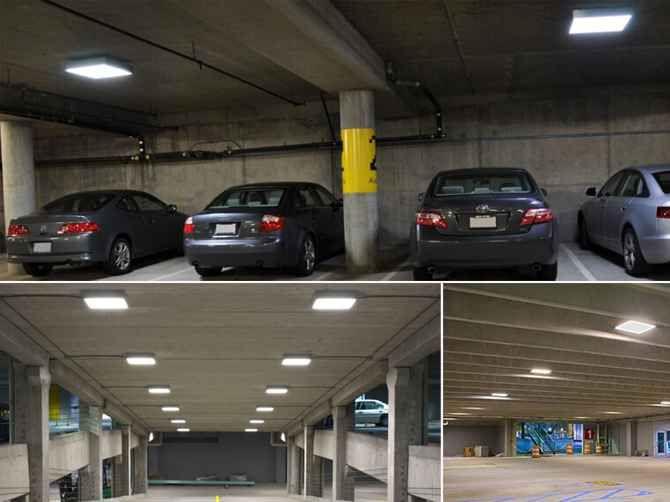 160w Led Canopy Lights Surface Hitecnico Optimized Led Lights Canopy Lights Garage Lighting Canopy