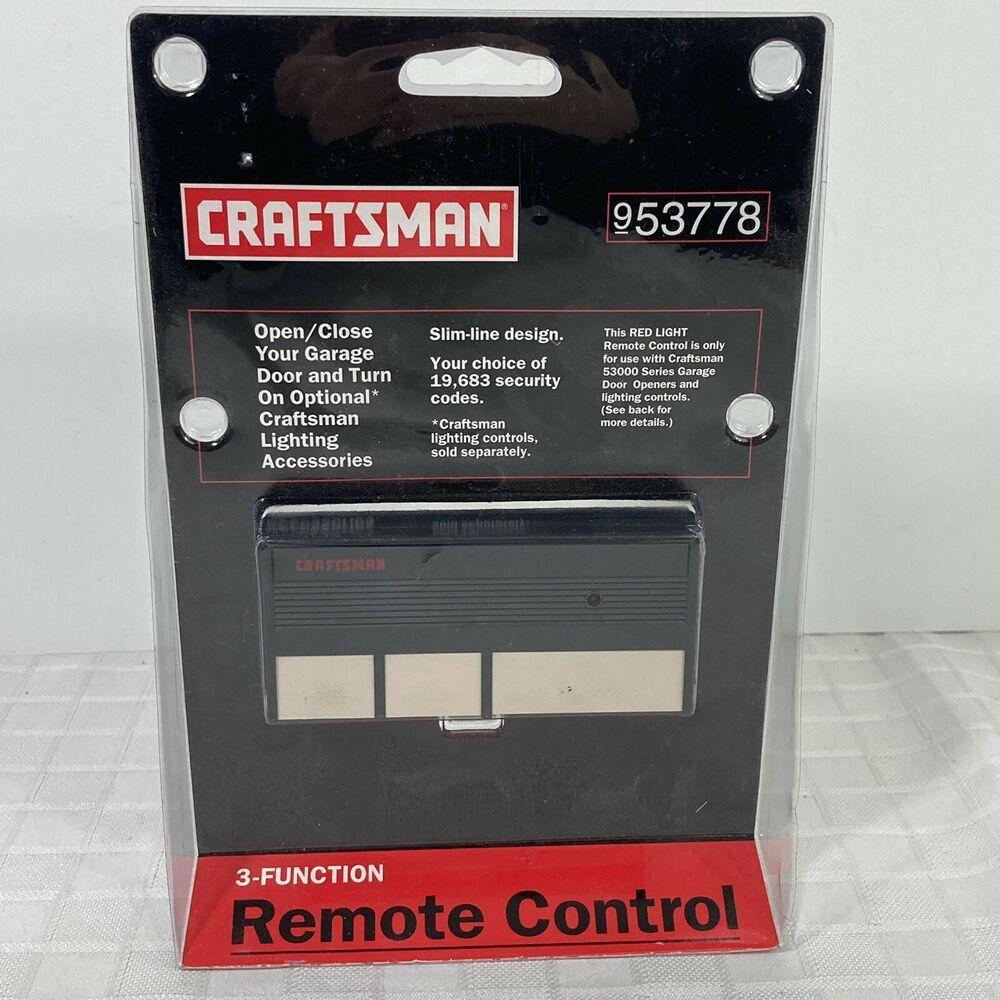 Craftsman Sears 3 Button Remote Garage Door Opener 53778 New Craftsman In 2020 Garage Door Opener Remote Garage Door Opener Garage Doors