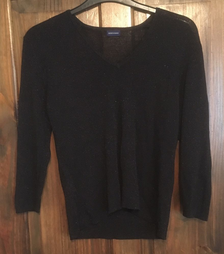 Ladies Debenhams Short Black Top Size Uk20 Length Is 22 Inches Good Condition Fashion Clothing Shoes Accessories Womensclothing Tops Black Tops Clothes [ 1000 x 879 Pixel ]