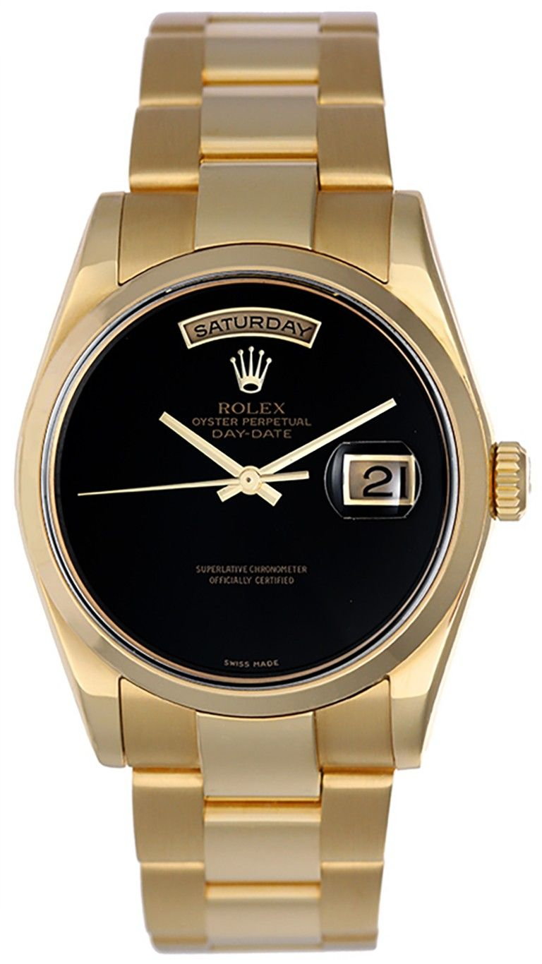 Rolex President Day Date 18k Watch Black Onyx Dial 118208 Gold Watch Men Luxury Watches For Men Rolex
