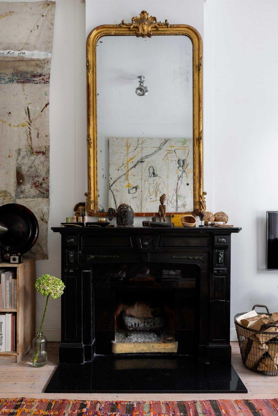 2 haard spiegel goud styling pinterest haard spiegel en goud - Barokke stijl kamer ...