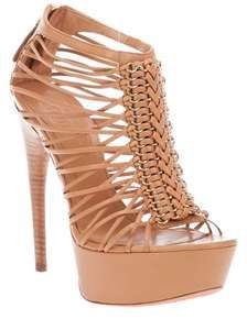 Fall Qedding Cognac platform sandals from Alexander McQueen with a high heel ...
