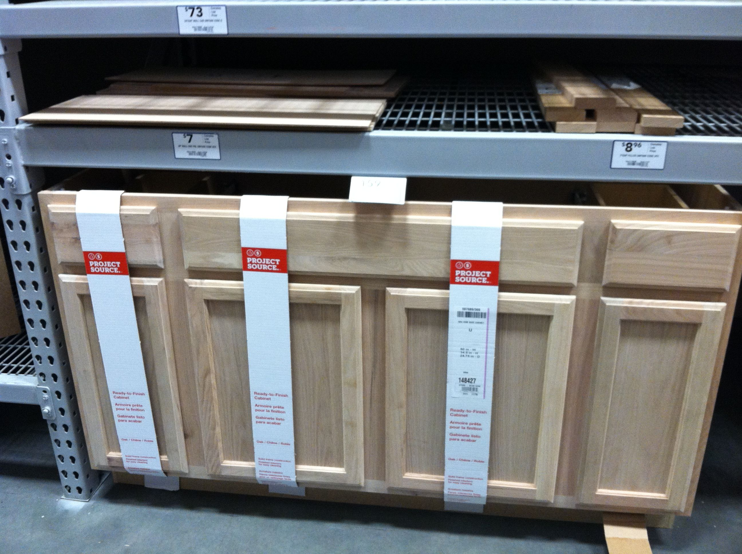 Lowe's unfinished cabinet | Unfinished kitchen cabinets ...