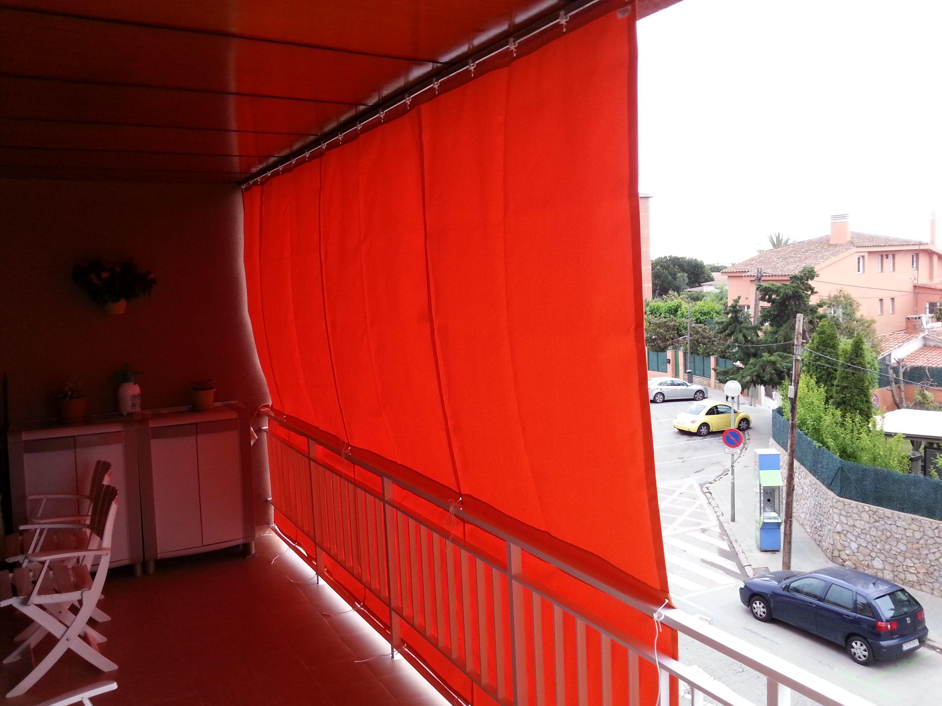 Toldo tipo cortina corredera para balcones toldos para - Toldos para patios precios ...