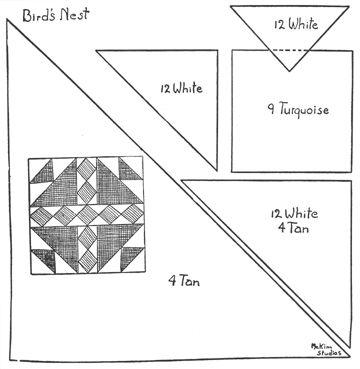 101 Patchwork Patterns by Ruby Short McKim:bird's nest