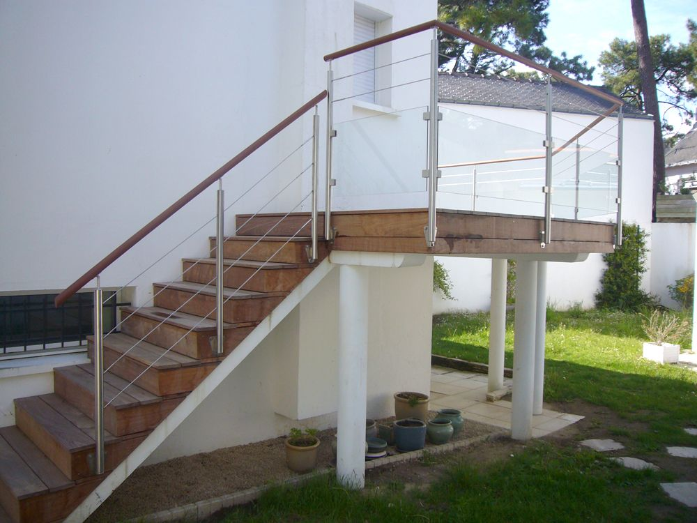 Escalier \ Garde-corps extérieur Une réalisation Art Design Inox - realiser un escalier exterieur
