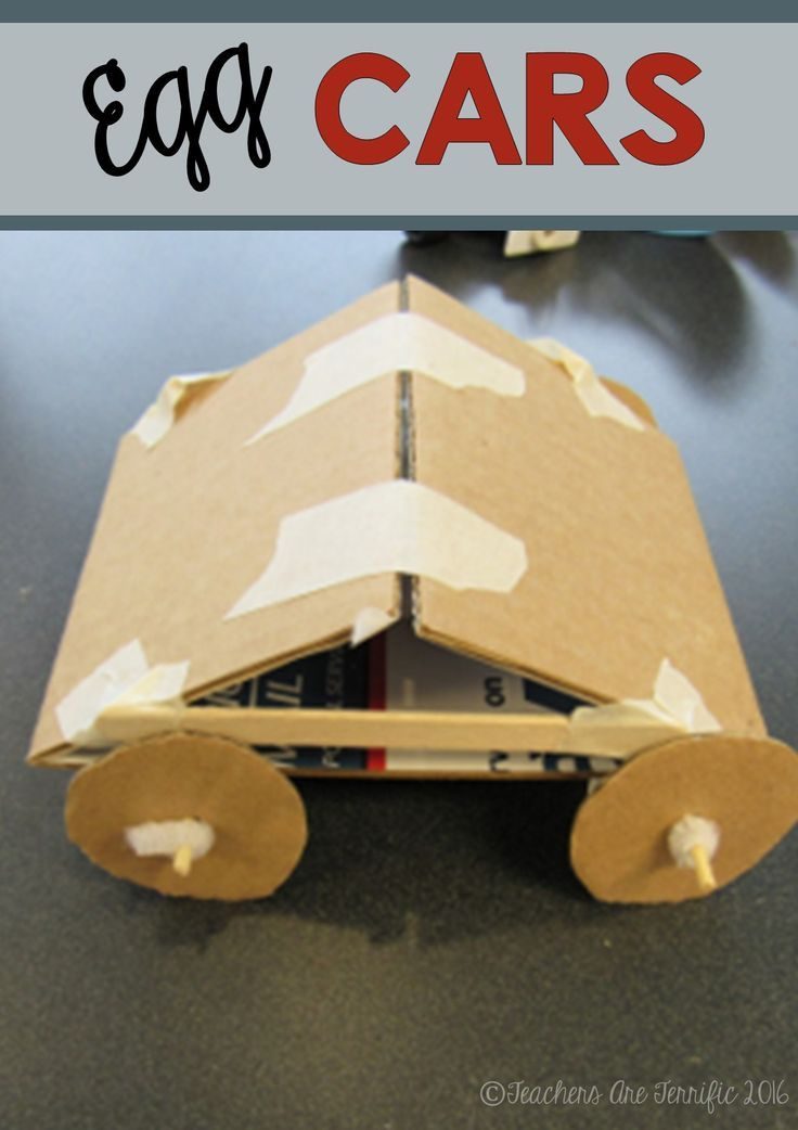 stem challenge egg cars featuring newton�s 2nd law all