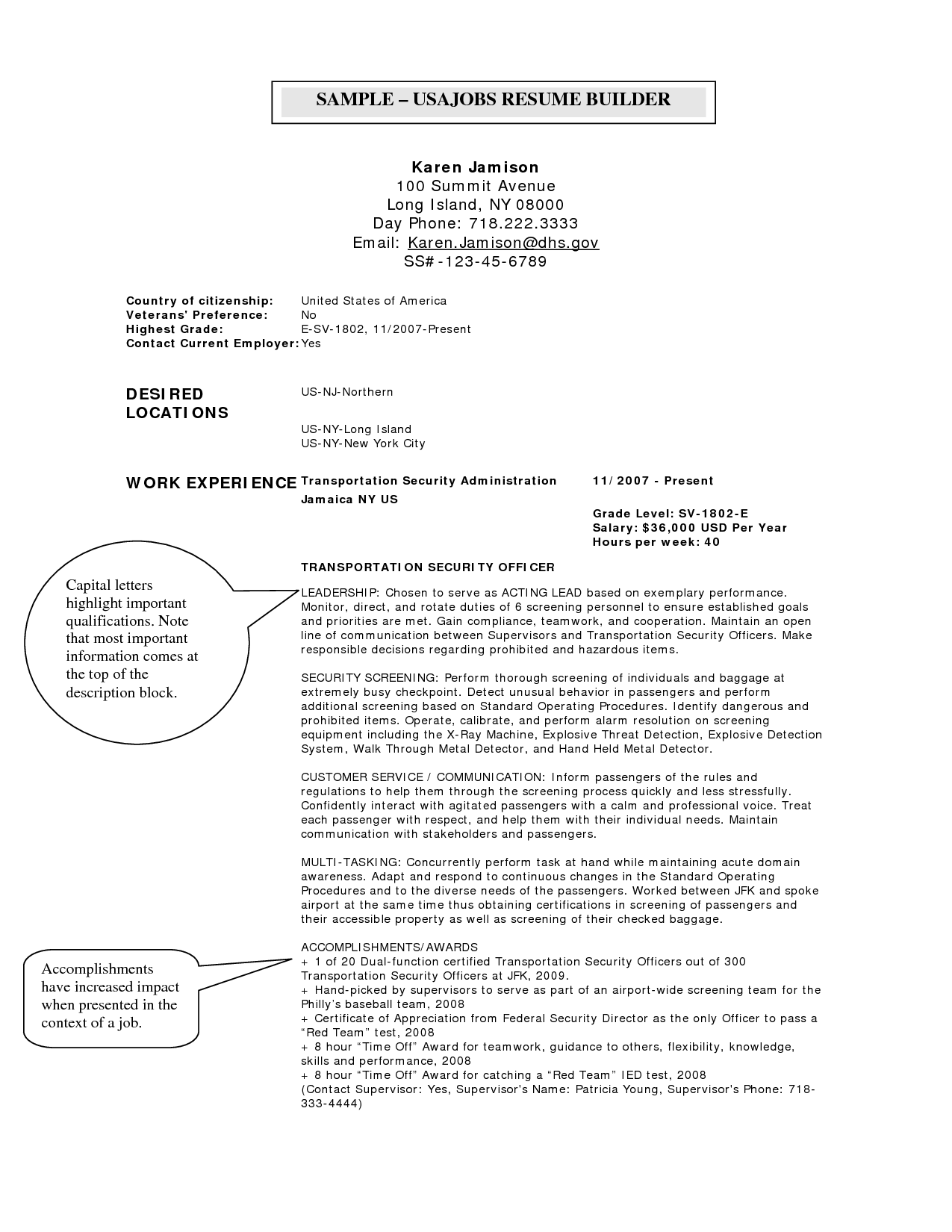 Security Jobs Resume Resume Format Usa Jobs  Pinterest  Resume Format Job Resume And .