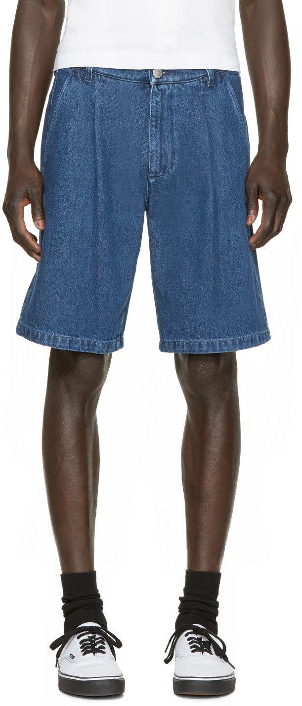 denim shorts - Blue Raf Simons HgSJJsTG