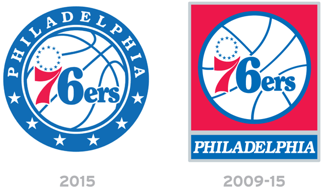 The 76ers New Logo Round Starry Red White And Blue Round Logo Logos 76ers