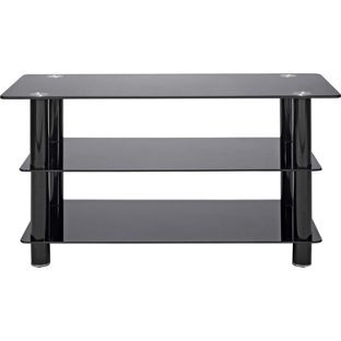 reputable site 67bf1 7d324 Buy Black Glass 42 Inch Slimline TV Stand at Argos.co.uk ...