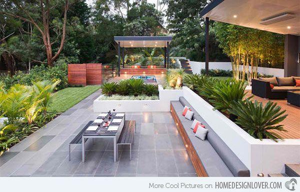 15 Contemporary Backyard Patio Designs   Home Design Lover