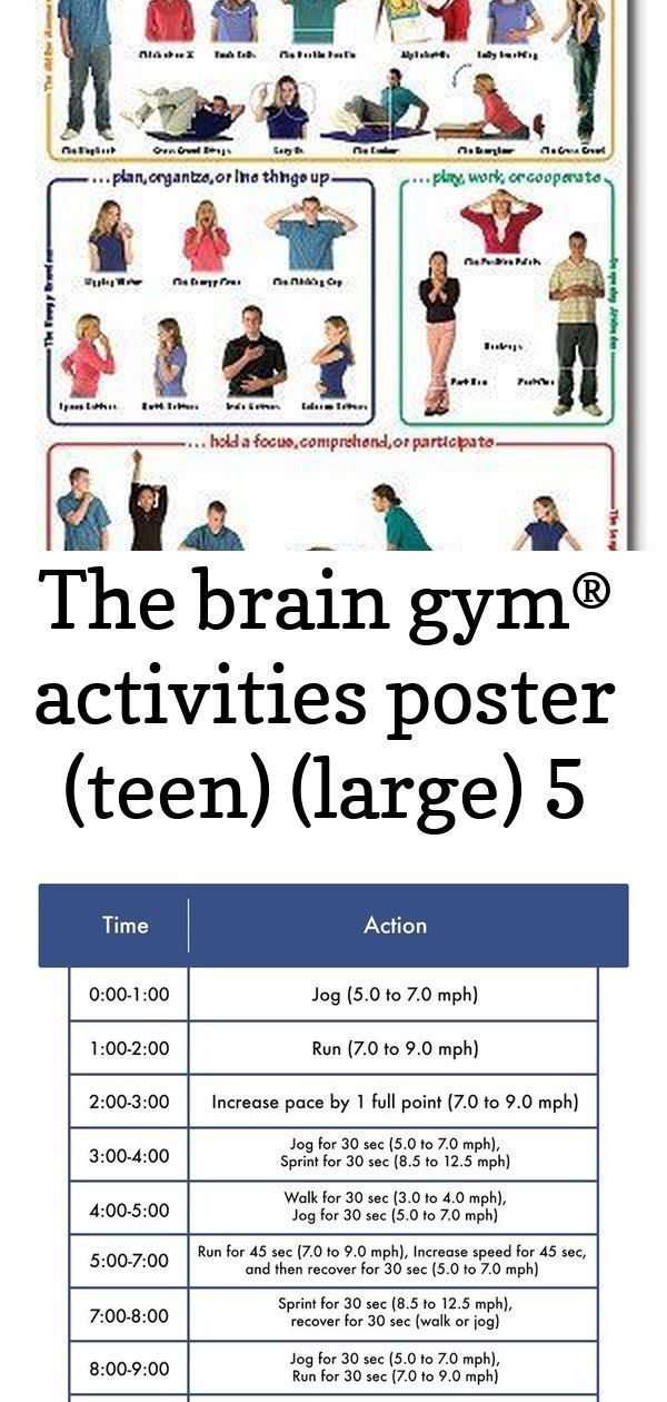 The brain gym® activities poster (teen) (large) 5 #stairmasterworkout brain-gym-activity-poster-with-teens-paul-and-gail-dennison These cardio machine workouts blast belly fat using intervals that burn calories and make you sweat. Find your next elliptical, treadmill, bike, row, and Stairmaster workout here. Fitstar Champion Leggings - Fitstar Apparel Legs & Back Workout with Mini Bands. This workout is relatively short, but the exercises are significant. You will target your back, biceps, quad #stairmasterworkout