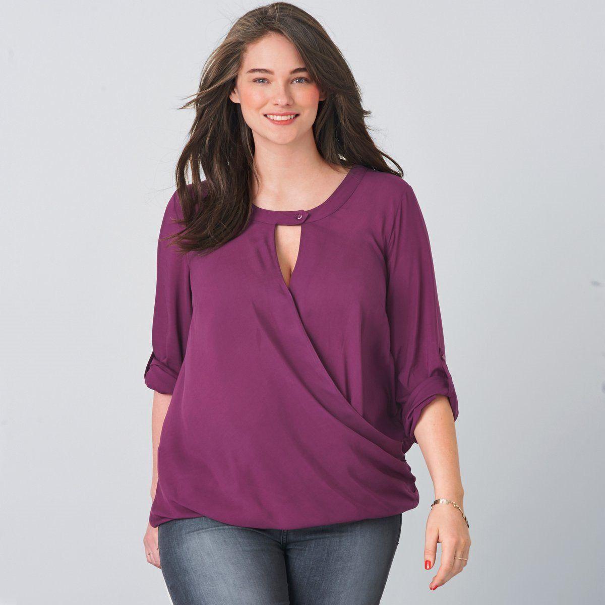 Blusa traçada, plus size, Taillissime | La Redoute