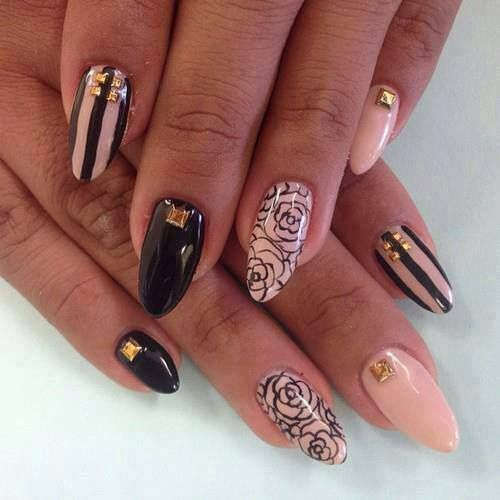 25 Amazing Pointed Nail Art Ideas Pinterest Pointed Nails Mani