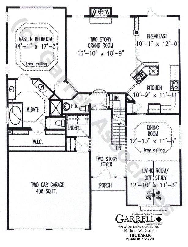 Baker House Plan 97220 1st Floor Plan Traditional