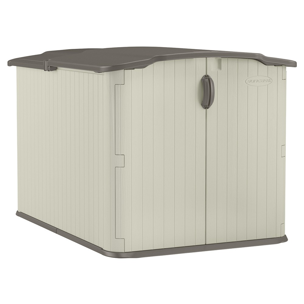Resin Glidetop Storage Shed Soft Taupe Suncast Resin Storage Wooden Storage Sheds Storage Shed