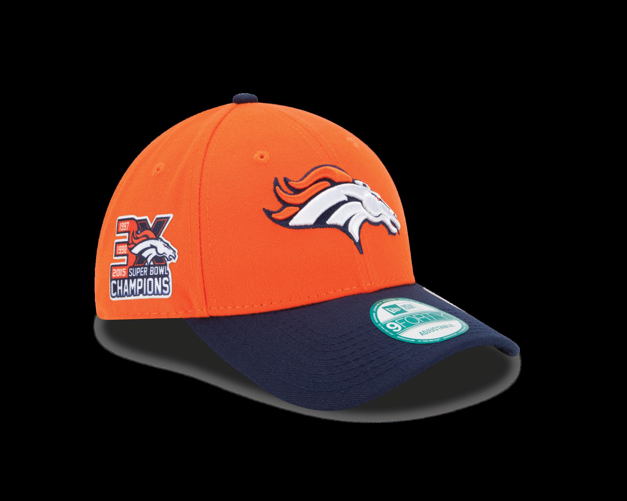 41fd16cac92 Men s Denver Broncos New Era Orange Navy 3X Super Bowl Champs 9FORTY  Adjustable Hat
