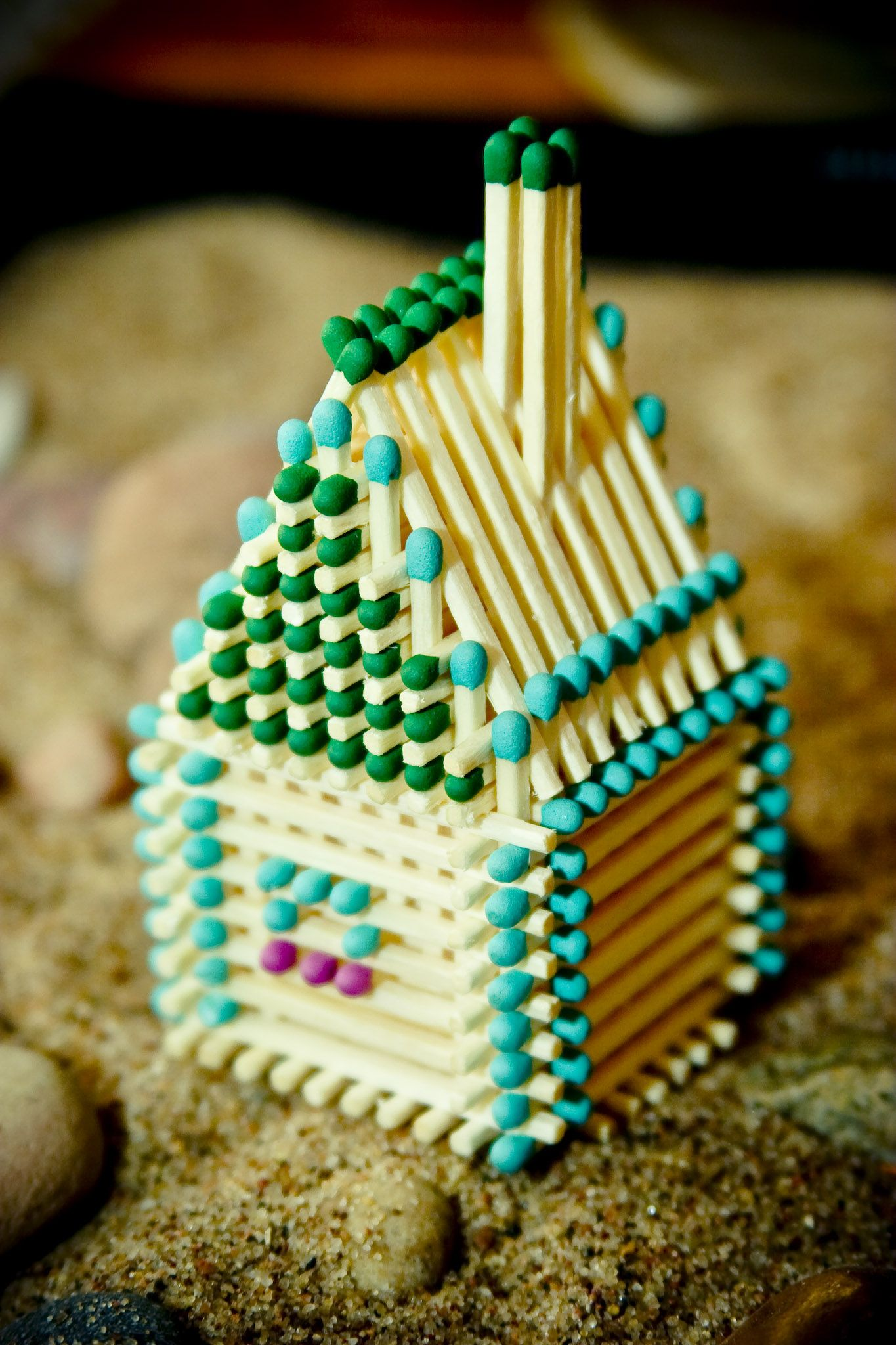 Handmade Match Stick House Find Out More At Www Matchhouse Lv