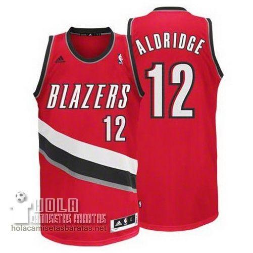 Camisetas Nba Baratas Aldridge #12 Rojo Portland Trail Blazers  €21.9