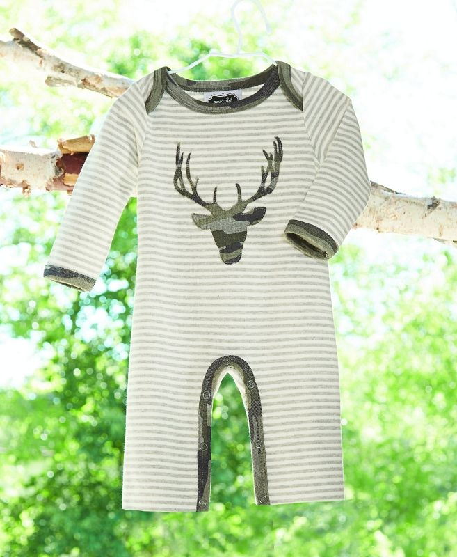 d7c6b796a Mud Pie Camo Stag One Piece | Cute Woodland Theme Baby Clothes for Boys at  Sugar Babies Boutique!