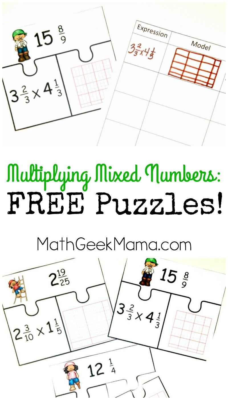 Low Prep Multiplying Fractions Activity Free Mixed Numbers Puzzles Fraction Activities Multiplying Fractions Activities Multiplying Mixed Numbers