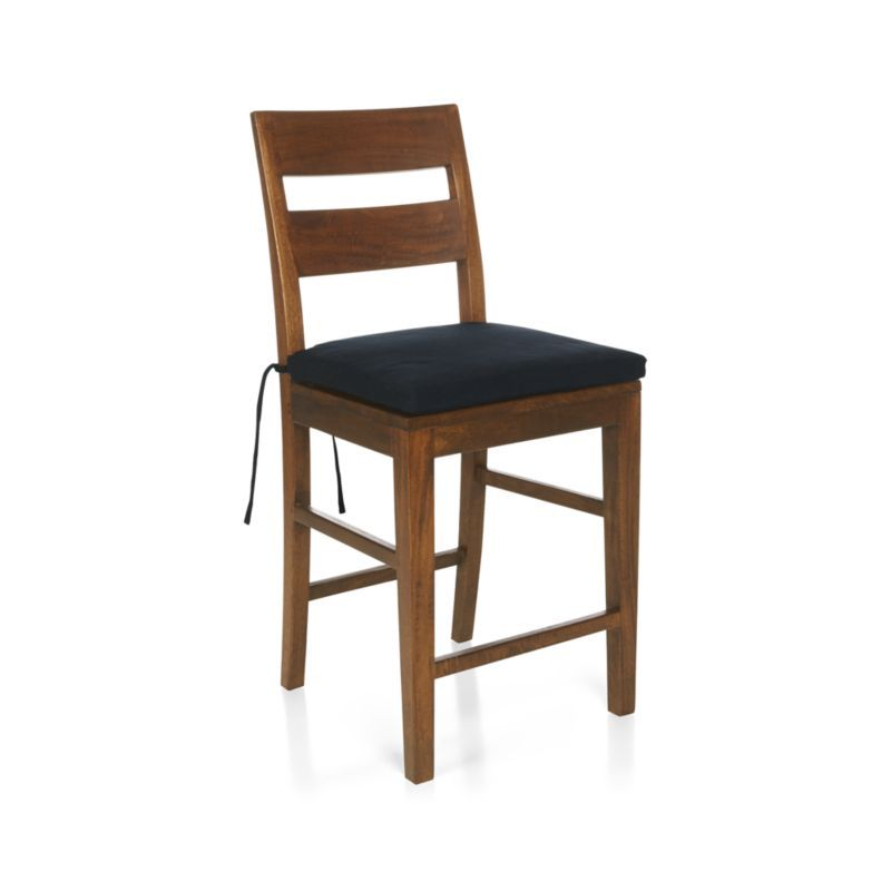 Genial Basque Navy Chairu2013Bar Stool Cushion
