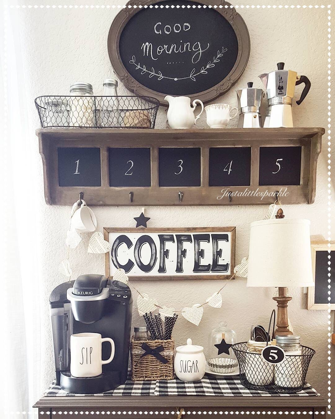 Coffee bar coffee station our home pinterest for Coffee bar design ideas