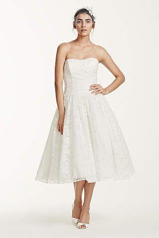44744f72b7cf0 Short   Tea Length Wedding Dresses