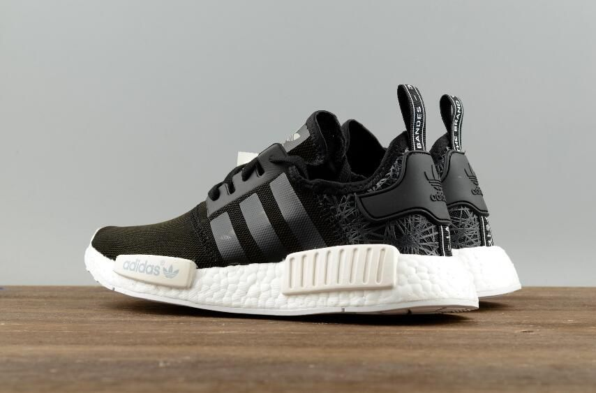 50e2fa70c7b0a Adidas Original NMD R1 PK S76906 Black Real Boost Running Sneakers Free DHL  Shipping for Online Sale 09
