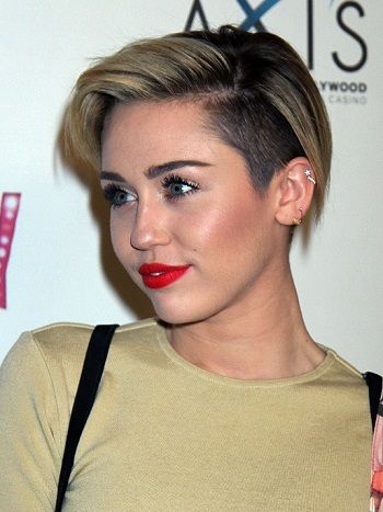 Short And Edgy The Celebrity Undercut Miley Cyrus Hair Hair
