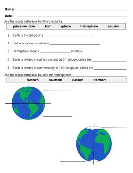 Geography: Hemispheres of the Earth | Homeschool | Geography ...