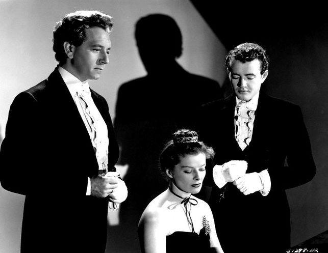 Sonata de amor: Paul Henreid es Robert Schumann, Katharine Hepburn es Clara Schumann y Robert Walker es Johannes Brahms.